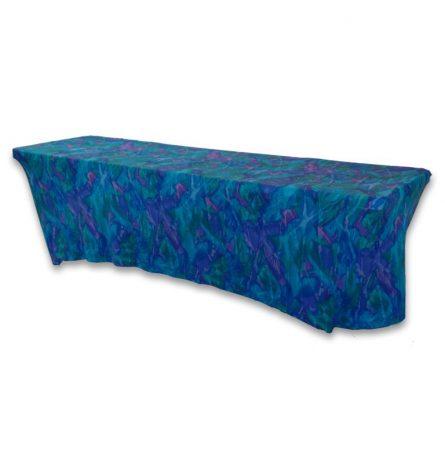 Aqua Blue Wave Spandex 8ft