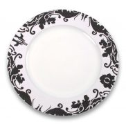 Black Brocade Charger Plate