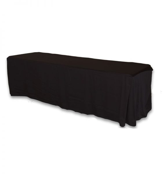 Black Fitted Satin 8ft
