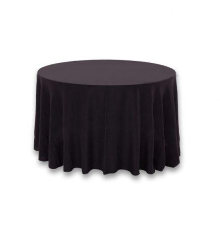 Black Polyester 108 Round Linen