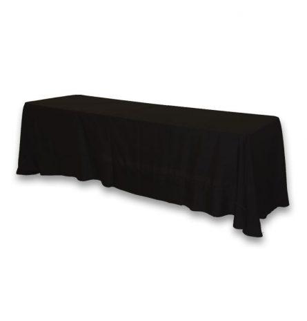 Black Polyester 8ft Linen