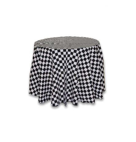 black and White Checkered 90 round