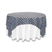 "Black with White Polka Dot 90"" Square"