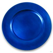 Blue Melamine Charger Plate