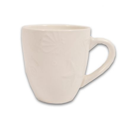 Cream Shell Coffee Cup