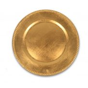 Gold Braided Charger Plate