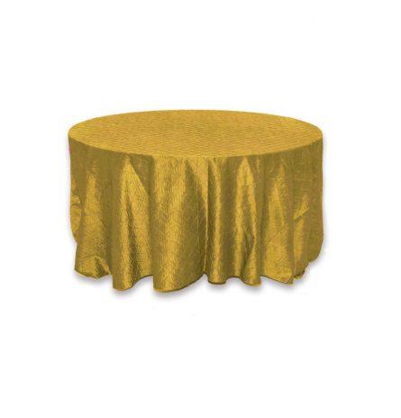 Gold Pintuck 132 Round