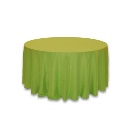 """Lime Green 120"""" Round Linen"""