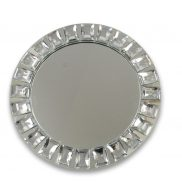 Mirror Glass Charger Plate