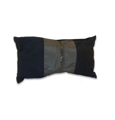 Navy with Beaded Stripe Pillow