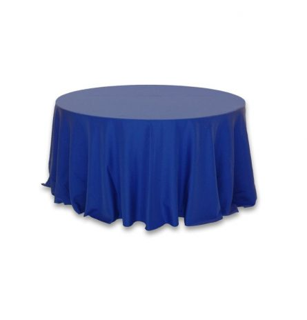 """Royal Blue Polyester 132"""" Round"""