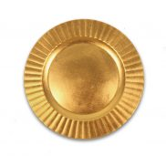 Scalloped Edge Gold Charger Plate