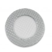 Silver Braided Glitter Charger Plate