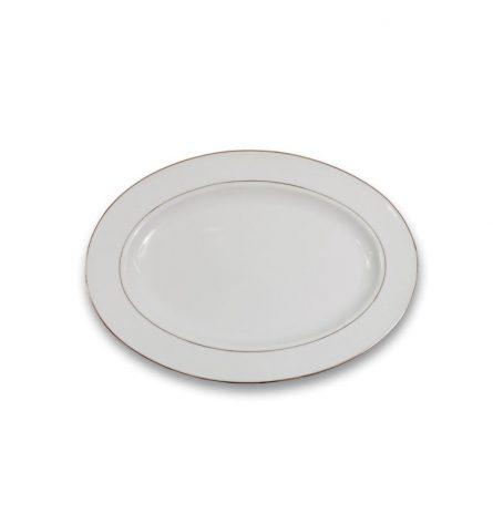 Silver Rim Oval Platter