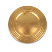 Triple Rim Gold Charger Plate