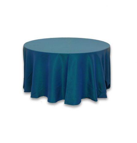 Turquoise Dupioni 120 Round