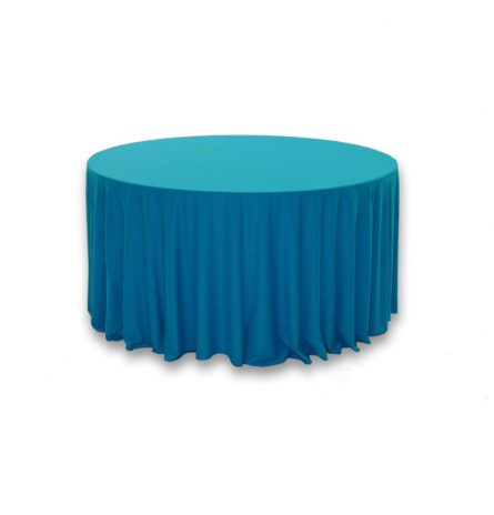 "Turquoise Polyester 120"" Round"
