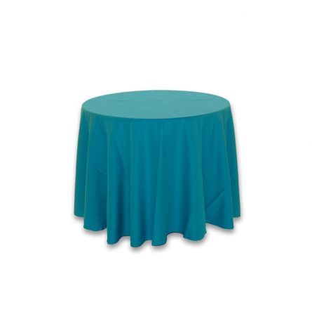 """Turquoise Polyester 90"""" Round"""