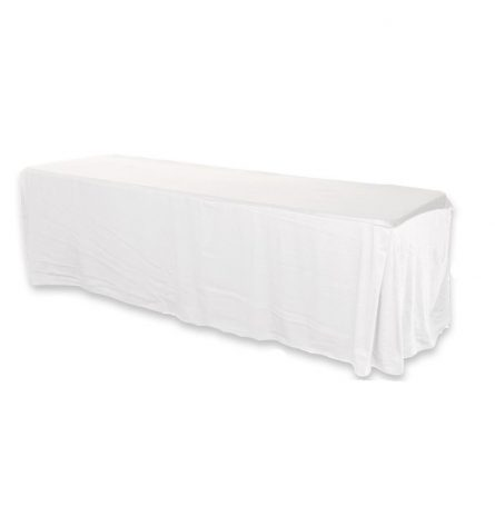 White Fitted Polyester 8ft
