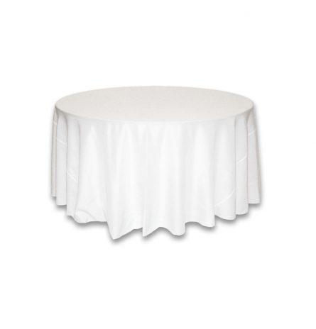 White Polyester 120 Round