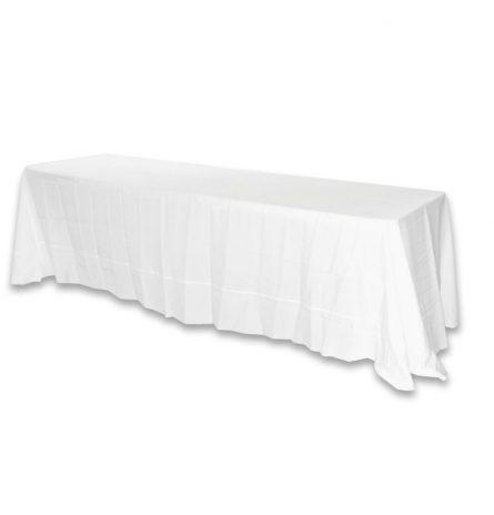 White Polyester 8ft Linen