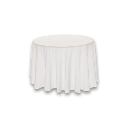 """White Polyester 90"""" round"""