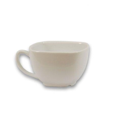 White Square Coffee Cup