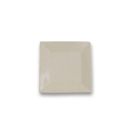 White Square Dessert Plate