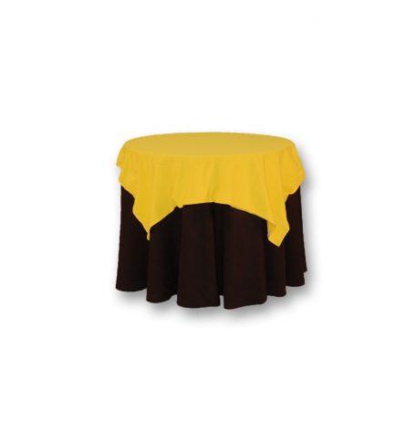 "Yellow Cotton Spandex 52"" square"