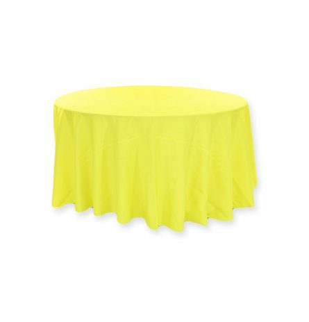 "Yellow Polyester 120"" Round"