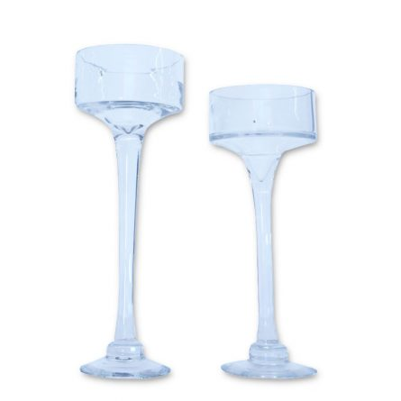 Stemmed Glass Candle Holders