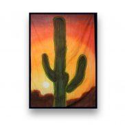 Backdrop Cactus Sunset