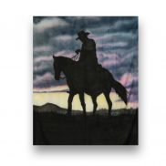 Backdrop Cowboy Sunset
