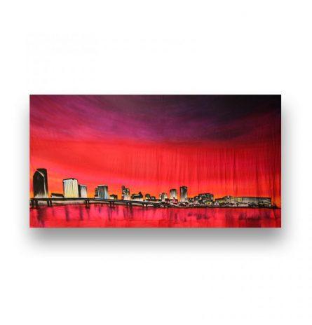 Backdrop Downtown Miami Skyline