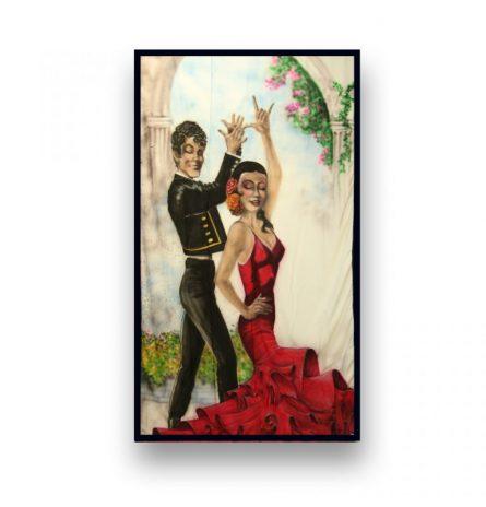 Backdrop Flamenco Dancers