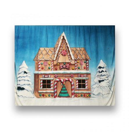 Backdrop Gingerbread House