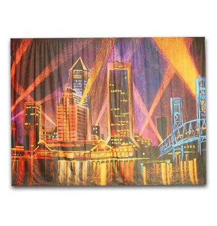 Backdrop Jacksonville Night Skyline