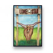 Backdrop Lone Star Bull