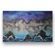 Backdrop Stormy Sea
