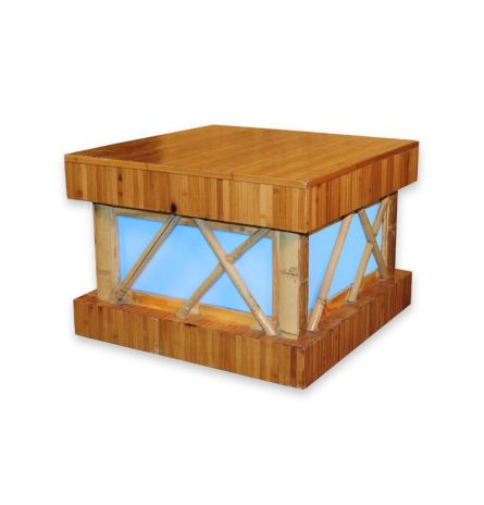 Bamboo Acrylic End Table