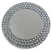 Beaded Mirror Charger Plate