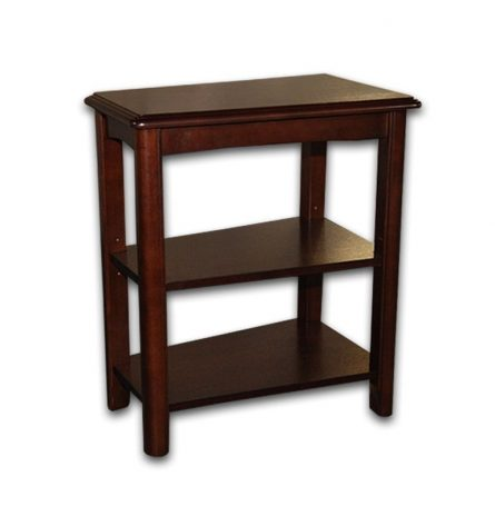 Beveled Wood End Table