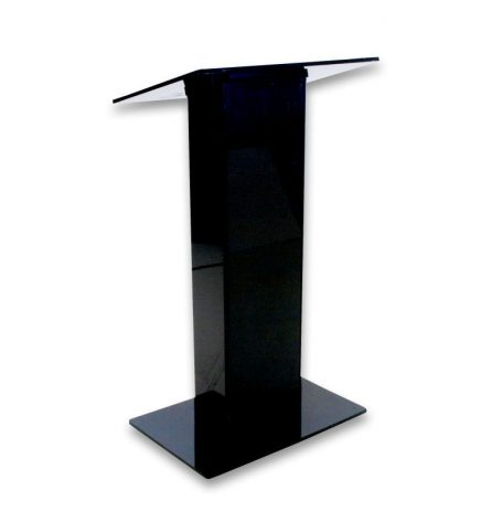 Black Acrylic Podium