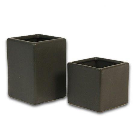 Black Ceramic Cubes