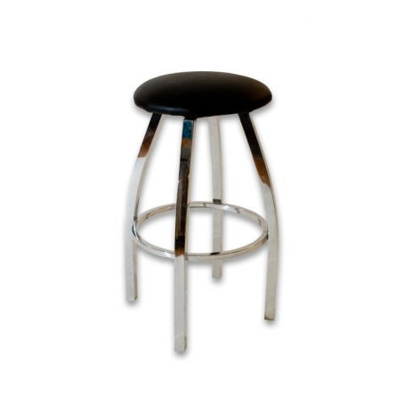 Black Chrome Stool
