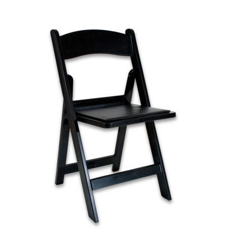Black Padded Folding Chair