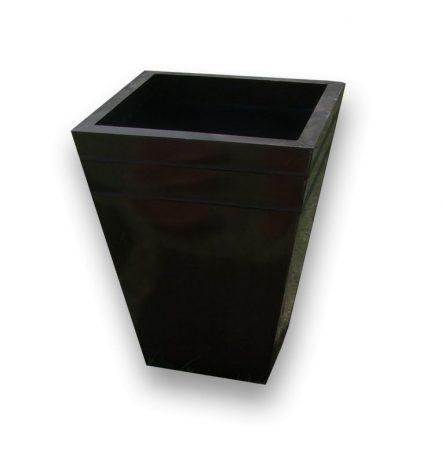 Black Resin Planter