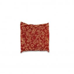 Burgundy and Gold Tapestry Pillow Cover