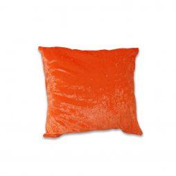 Crushed Orange Velvet Pillow Cover