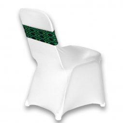 Diamond Pattern Spandex Chair Band Green